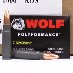 Wolf 7.62x39 123 Gr Hollow Point Non Corrosive 20 Round Box