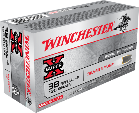 Winchester Super X 38 Special +P 125 Gr Silver Tip JHP (50)