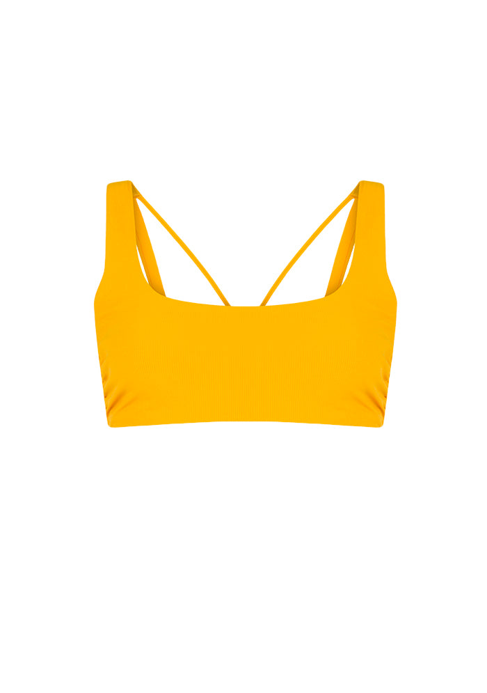 Bright Side Sarı Crop Top Bikini Üstü