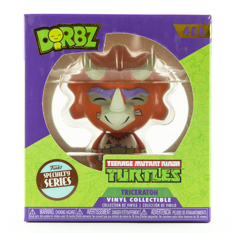 TEENAGE MUTANT NINJA TURTLES: TRICERATON #406 SPECIALITY SERIES DORBZ VINYL FIGURE BNIB