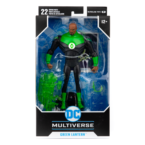 "GREEN LANTERN ANIMATED JUSTICE LEAGUE DC MULTIVERSE 7"" McFARLANE ACTION FIGURE"