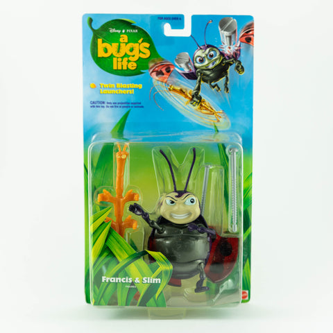 A BUGS LIFE: FRANCIS AND SLIM MATTEL ACTION FIGURE MOC