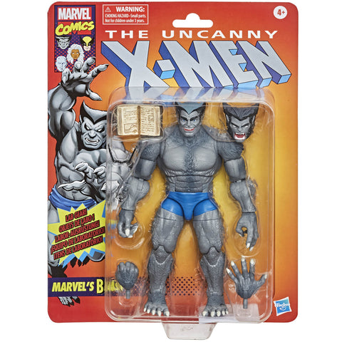 "BEAST X-MEN MARVEL LEGENDS RETRO  6"" HASBRO ACTION FIGURE"