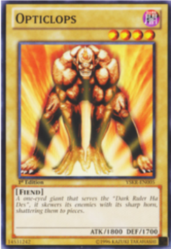 Yu-Gi-Oh! Opticlops YSKR-EN005 (1st Edition)