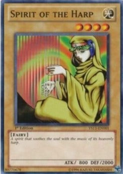 Yu-Gi-Oh! Spirit of the Harp YS11-EN001 (1st Edition)