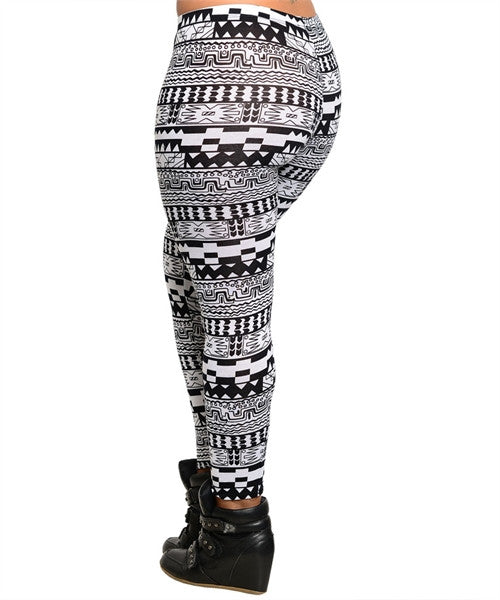 Black & White Geo Leggings