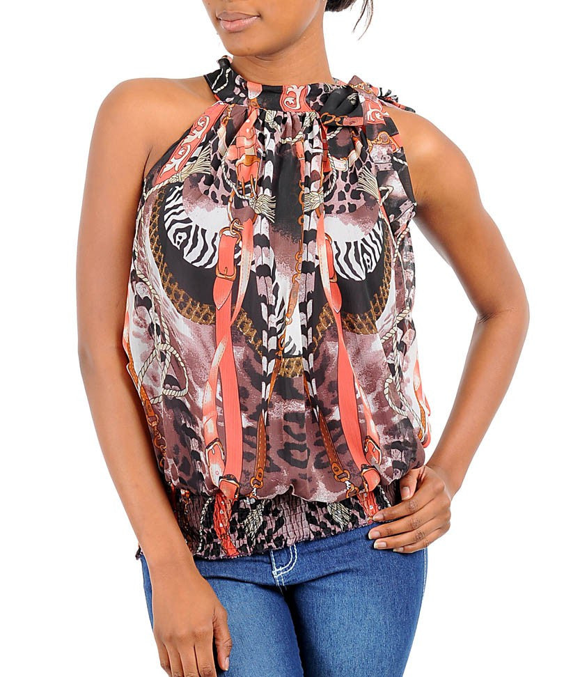 Printed Halter Top
