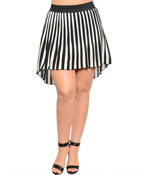 Striped Skirt - Plus