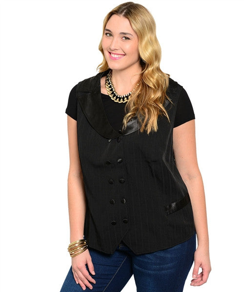 Black Vest - Plus by Lane Bryant