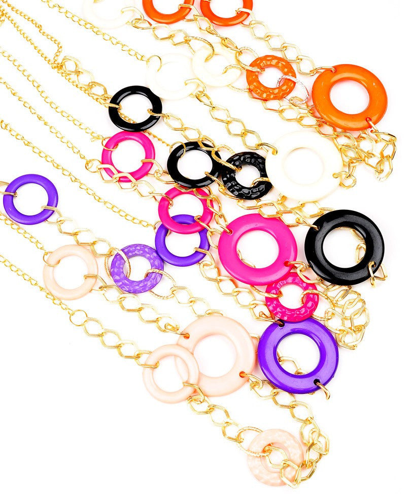 Chain & Hoop Necklace Set