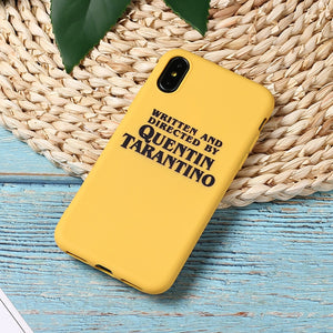 Written and directed by Quentin Tarantino - Iphone cases (Soft TPU)