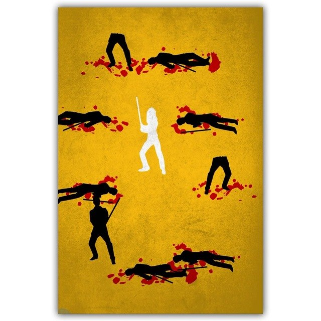 Kill Bill  Art Movie Paint Wall