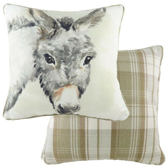 Evans of Lichfield Donkey Watercolour Collection 43x43cm Cushion