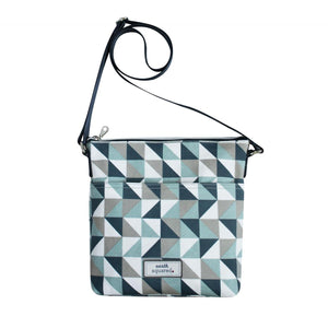 Blue Triangle Messenger Crossbody Bag by Earth Squared