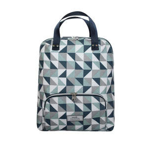 Blue Triangle Oil Cloth Backpack/Rucksack by Earth Squared