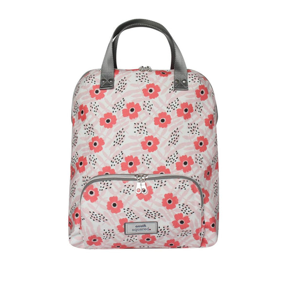 Poppy Pink Oil Cloth Backpack/Rucksack by Earth Squared