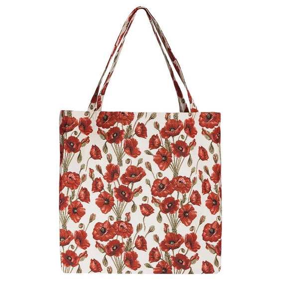 Signare Poppy Fold Away Shopper Tote Gusset Bag