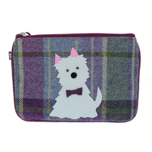 White Dog Applique Coin Purse by Earth Squared