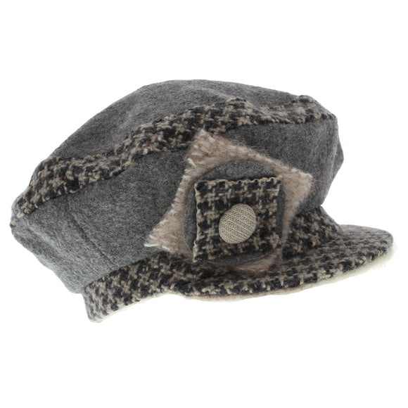Max & Ellie Ladies Bakerboy Cap In Grey