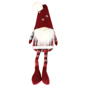 Large 37cm Shelf Santa Gnome Gonks Weighted Dangly Legs