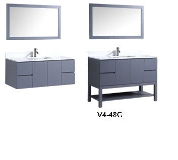 Floating Vanity Espresso White Or Grey MR MAGOOS FURNITURE - 72 floating bathroom vanity