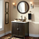 "30""  Espresso Vanity With Beautiful Vessel"