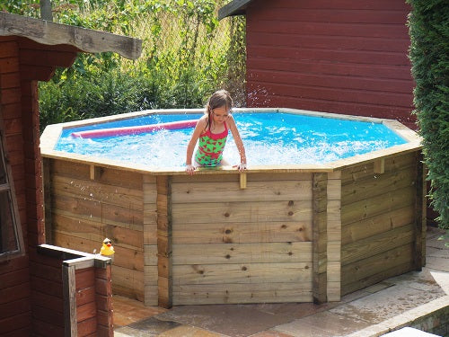 Wooden Octagonal Swimming Pool - 10ft