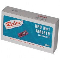 Relax DPD No.1 or No.3 Chlorine Test Tablets