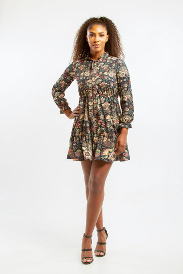 Paisley-Victoria Chiffon Dress