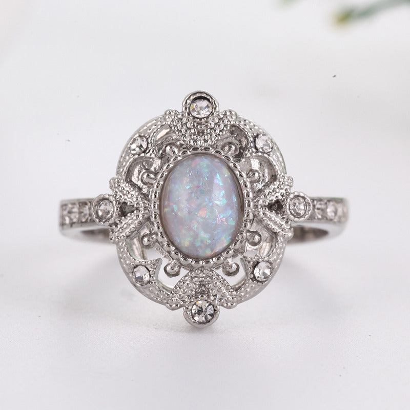 cbbb638a04245 Oval Opal Stone Black Gold Ring