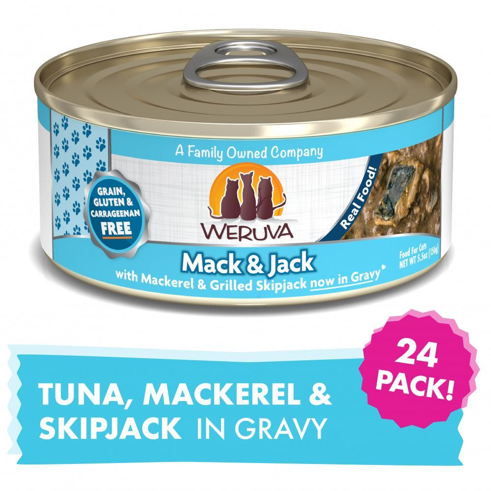 Weruva Mack And Jack With Mackerel and Grilled Skipjack Canned Cat Food
