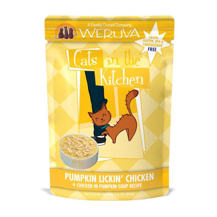 Weruva Cats In the Kitchen Pumpkin Lickin Chicken Pouches Wet Cat Food