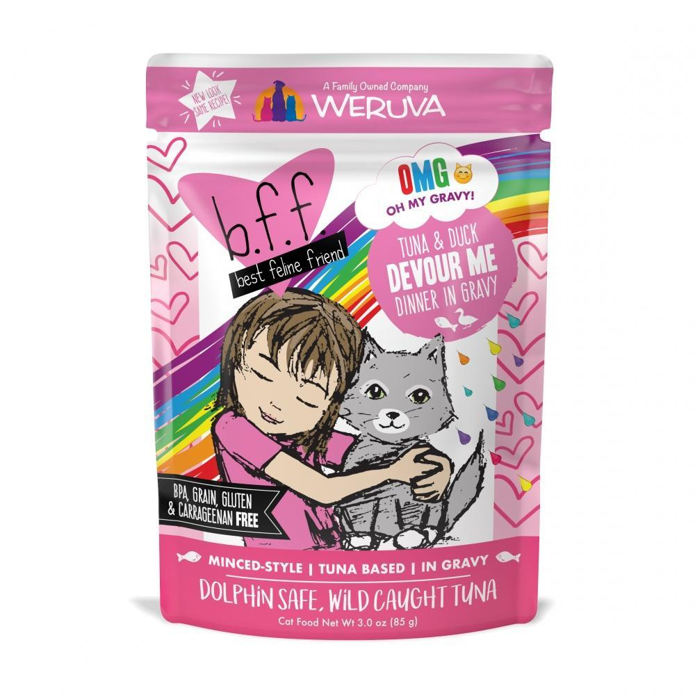 Weruva BFF Tuna & Duck Devour Me Pouches Wet Cat Food
