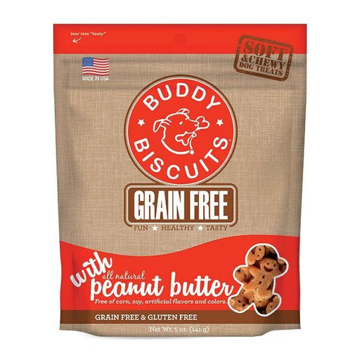 Cloud Star Buddy Biscuits Grain Free Soft and Chewy Peanut Butter Dog Treats