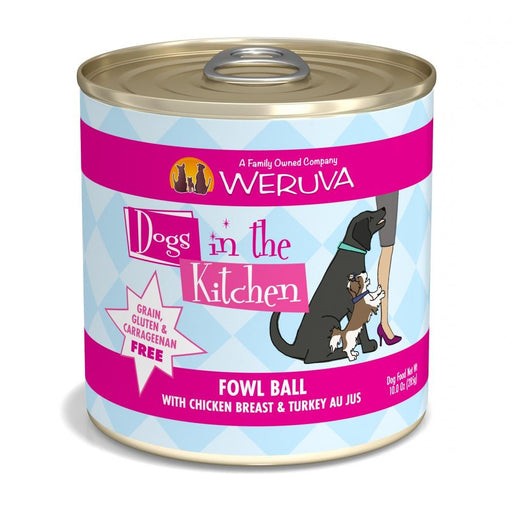Weruva Dogs in the Kitchen Fowl Ball Grain Free Chicken and Turkey Canned Dog Food