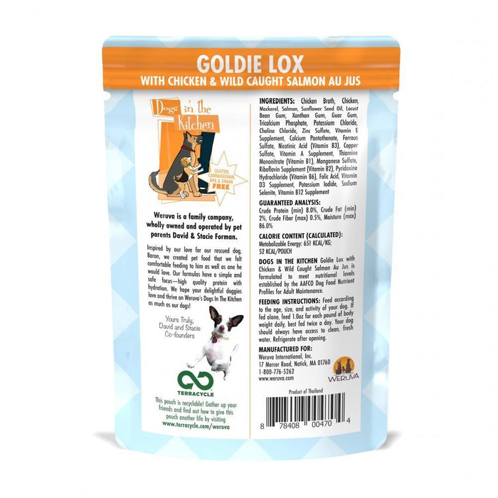 Weruva Dogs in the Kitchen Goldie Lox Grain Free Chicken and Salmon Dog Food Pouches