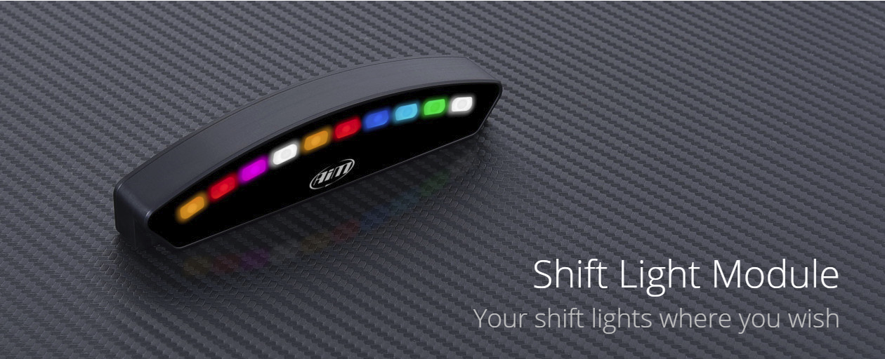 The Shift Light Module is a compact array of ten RGB LEDs
