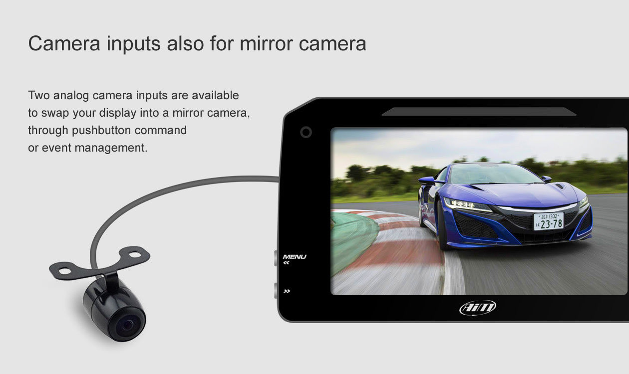 Camera inputs, also for mirror camera