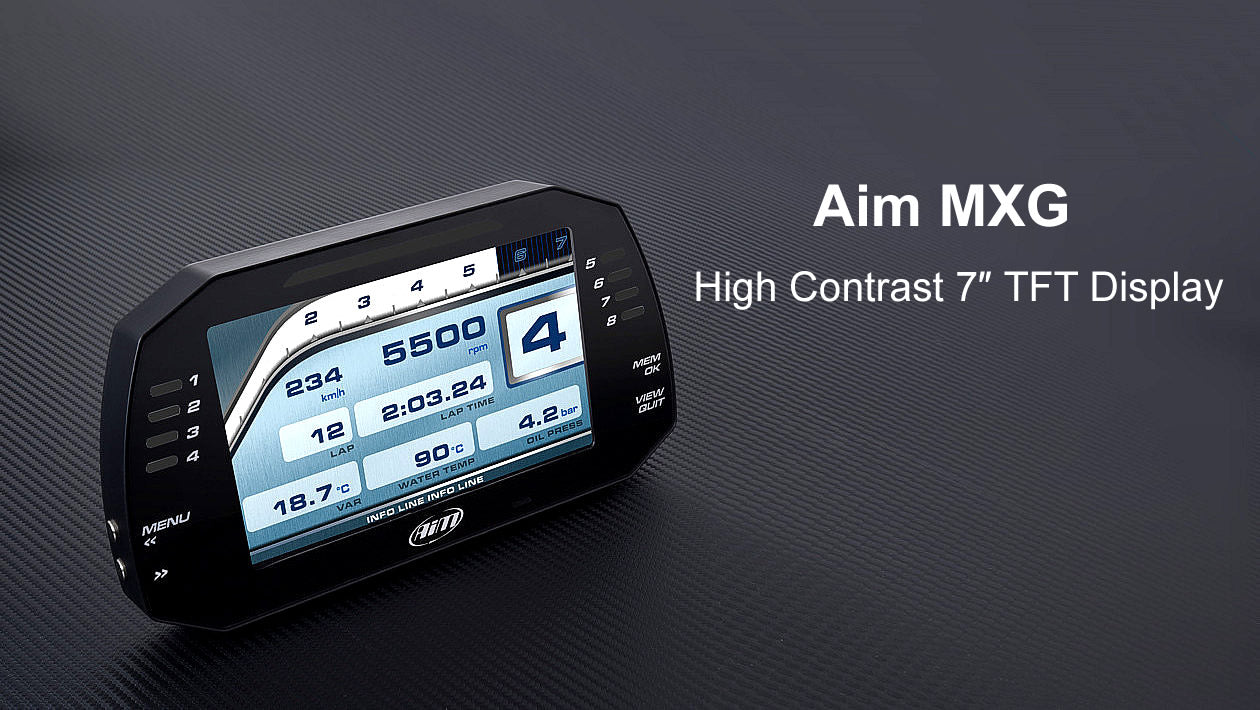 Extra Wide, High Contrast 7_ TFT display