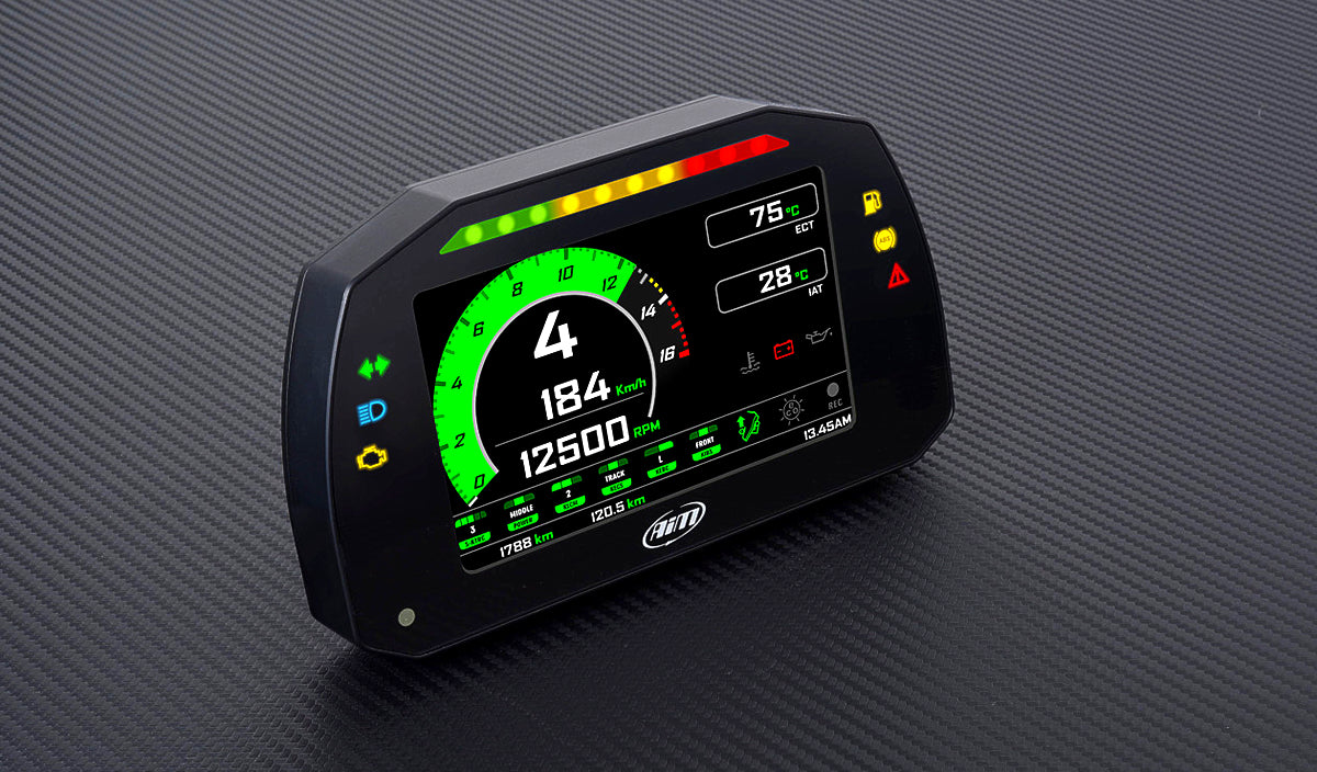 Aim MXK10 is the New Motorcycle Dash Logger designed for the Kawasaki Ninja ZX-10R