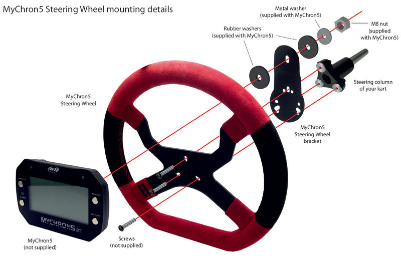 MyChron5 Steering Wheel mounting details