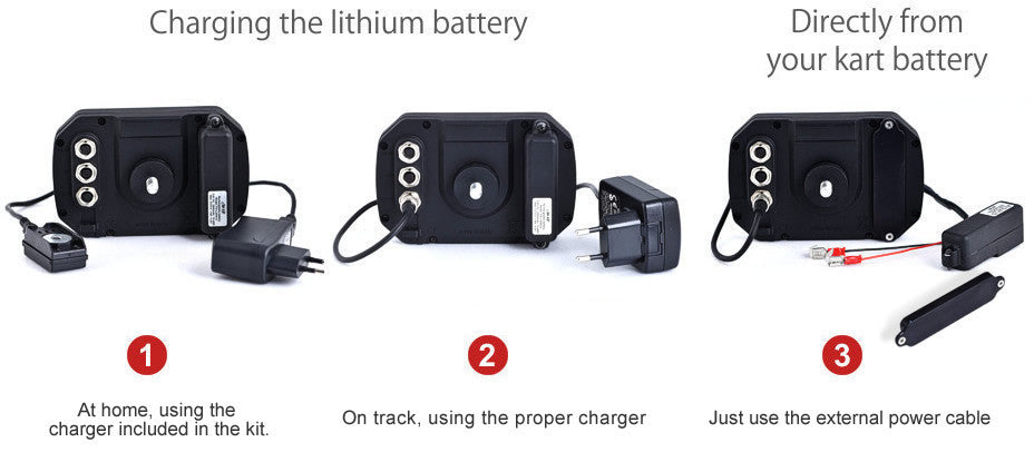 MyChron5 battery charger Just use the external power cable