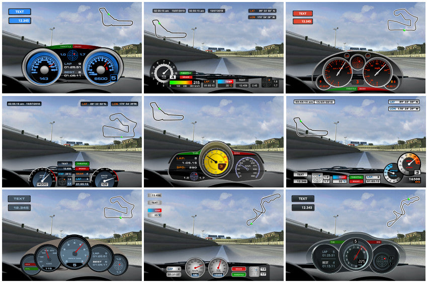 Race Studio 3 Configuration views