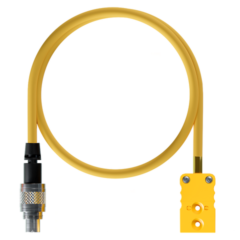 AiM Exhaust Gas K Type Thermocouple Temperature Sensor M5 & TC Yellow to 712 3 Pin Patch Lead