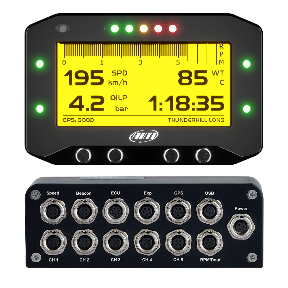 AiM GS-DASH & EVO4S Motocross Dash Data Logger Kit