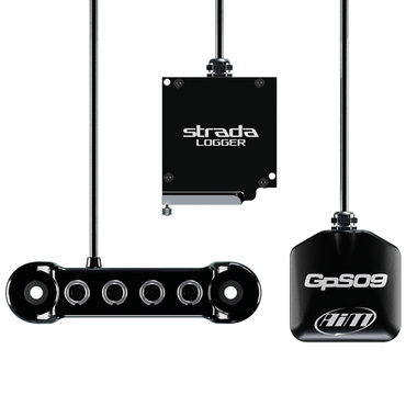 AiM Mx Strada Logger Kit with Data Hub and GPS09 Module Motorcycle Kit