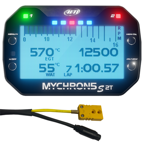 AiM MyChron5 S 2T Ultimate Temperature Sensor Karting Kit