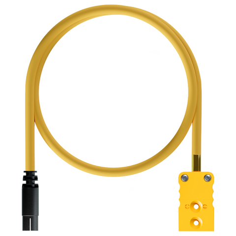 AiM Thermocouple TC Yellow to 719 4 Pin Patch Lead (Plastic Binder Plug) Motocross