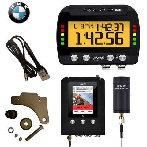 AiM Solo 2 DL + SmartyCam Motorcycle Plug & Play Track Day Kit
