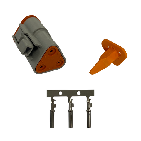 Deutsch Male & Female DT Plug & Pins including Wedge Lock